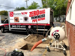 Rooter Now trenchless sewer repair Charleston SC